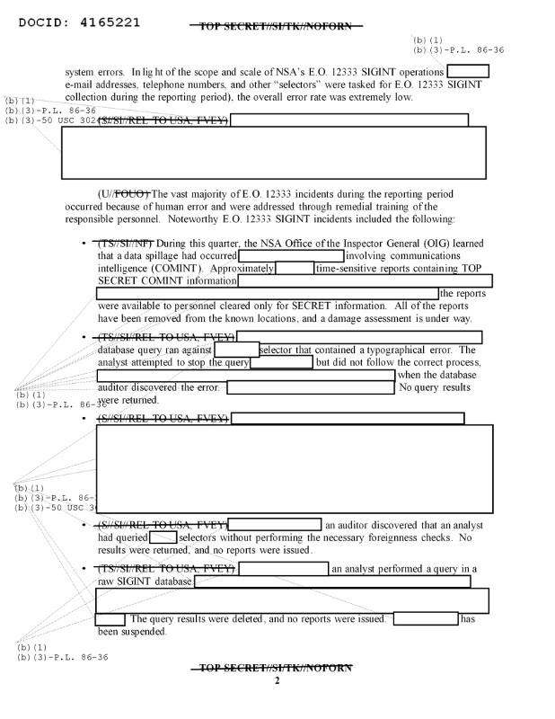 A document declassified by the NSA